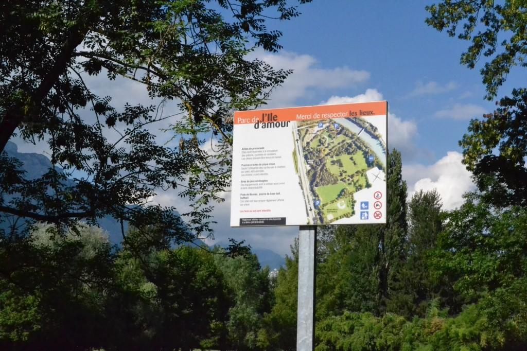 Grenoble, parc de l'ile d'amour à Meylan