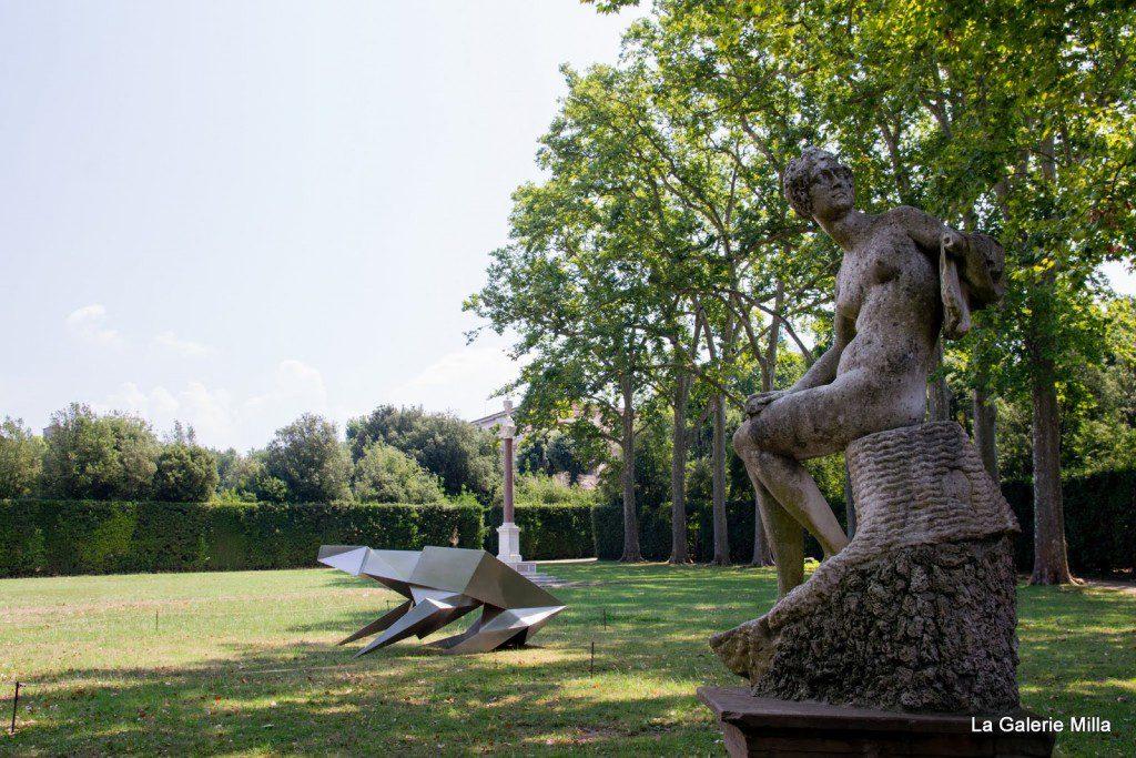 jardin di boboli - vue d'une statue