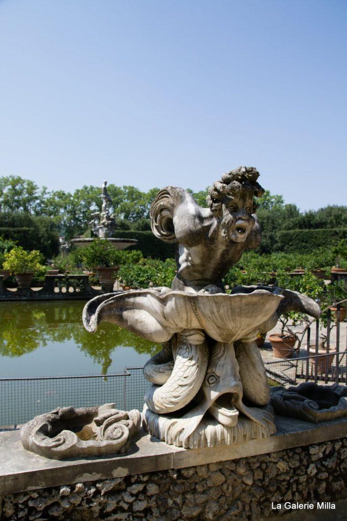 jardin di boboli - statue de la fontaine